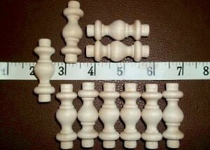 """THIRTY Wood Spindles 1-1/2"""" For Woodworking Or Craft Made In USA"""
