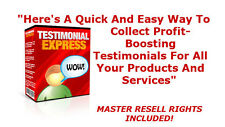 Testimonial Express - Software to create testimonial forms for your website - RR