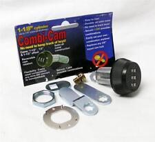 "Combi Combination 1 1/8"" inch Cam Lock Keyless Cabinet RV 3 Dial Black New"