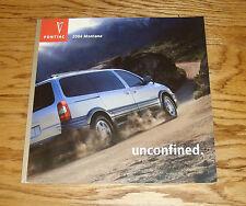 Original 2004 Pontiac Montana Deluxe Sales Brochure 04