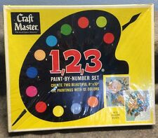 Vtg 1968 Craft Master Paint By Number Set K-11 Yellow Rose Oil Painting Unopened