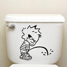 Niño Orinando Divertido asiento inodoro Arte Pegatina vinilo pared baño adhesivo