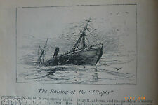 Raising the Utopia Shipwreck Salvage Antique Victorian Illustrated Article 1892