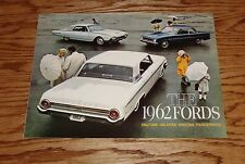 Original 1962 Ford Foldout Sales Brochure Falcons Galaxies Wagons Thunderbirds