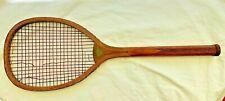 Antique Tennis Racket Spalding Transitional Flat Top C1890
