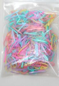 Mini Elastic Rubber Hairband (300, 600, 900 packs)