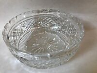 "Brilliant Cut Glass Crystal Fruit Serving Bowl 8"" In Diameter"