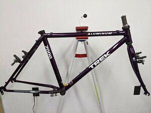 Purple Trek 7000 MTB Easton aluminum frame steel fork for 26 in US made Sz 17.5