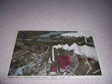 1940s AERIAL-VIEW INTERNATIONAL NICKEL PLANT SUDBURY ONTARIO POSTCARD