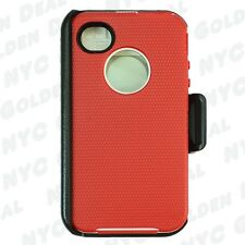 For Apple iPhone 4/4s Defender Case Cover w/(Clip fit Otterbox)&Screen Protector