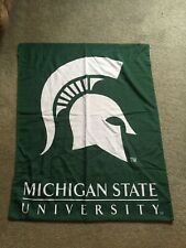New Michigan State University Spartans Banner Flag Green & White W/ Pole Sleeve