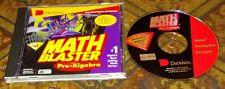 Davidson Pre-Algebra Math Blaster CD-ROM Educational WINOWS /MAC 1997 Complete