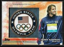 AWESOME 2012 TOPPS OLYMPIC TONY AZAVEDO USOC PIN CARD ~ USA WATER POLO