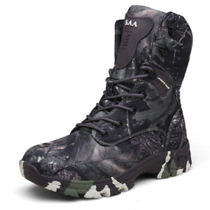 Men's Camouflage Outdoor Boots with High Top Wearable Non-slip Combat Boots