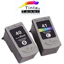 Pack 2 Cartuchos de Tinta PG40 PG50 CL41 CL51 para Canon Pixma MP180 MP190