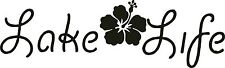 Lake Life Flower Window Mirror Wall Decal Car Truck Boat Trailer Rv Home Cottage