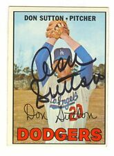#18 Don Sutton Autographed 1967 Topps Card - Dodgers