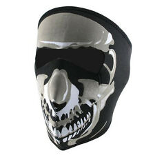 Skull Full Face Mask for Bikers Neoprene Chrome