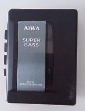 Lettore cassette Stereo Cassette Player AIWA SuperBass portatile, nero, Vintage
