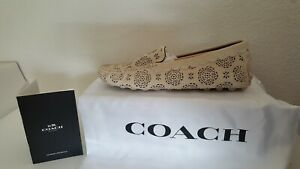 Coach Crosby Driver Cut Out Tea Rose Sued Size 9.5B