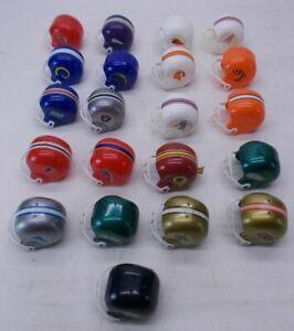 Lot Of 22 Vintage NFL Football Helmet Mini Gumball Vending Machine Toys