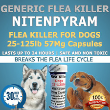 "100ct. Dogs K9 25-125lb  57mg ""Generic Flea Killer"" Nitenpyram"