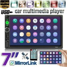 "7"" 2DIN Car Radio MP5 Player Bluetooth Touch Screen Mirror Link SD AUX USB TF IN"