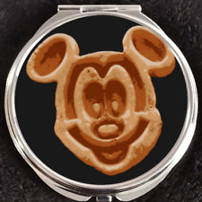 Mickey Mouse Waffle Food Breakfast Wdw Disney Disneyland Makeup Compact Mirror