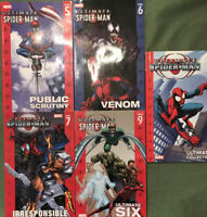 Lot of Marvel Ultimate Spider-Man TPB Vol 5, 6, 7, 9 + Ultimate Collection Vol 1