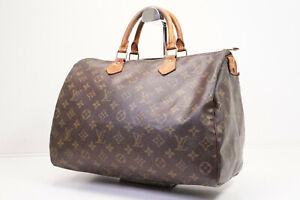 Auth Pre-owned Louis Vuitton LV Monogram Speedy 35 Hand Bag M41524 M41107 210218