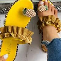 Women Summer Pineapple Flip Flops Sandals Flat Slippers Shoes Beach Fashion Q