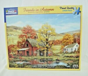White Mountain: Friends in Autumn by Fred Swan - 1000 Large Piece Jigsaw Puzzle