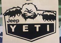 YETI DECAL STICKER BIGFOOT SASQUATCH Vinyl Accessory