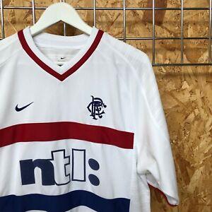 Rangers Nike Away Shirt 2000/2001 - M MEDIUM - Top Kit Jersey Vintage