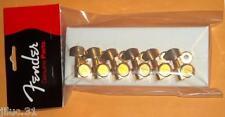 Mécaniques FENDER Locking - F logo GOLD 0990818200 pour strat, télé etc...