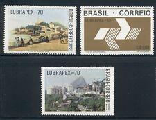 Brazil Scott #1176-1178 MNH LUBRAPEX '70 Stamp EXPO CV$13+