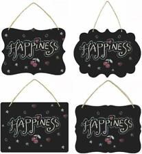 Wall Hanging Chalkboard Sign Double-Sided Message Board w/Hanging String - 4pk