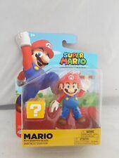 "Super Mario 4"" Figure Mario avec Question Block World of Nintendo Jakks"