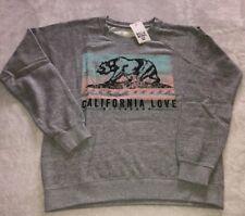 New Billabong Batik Cali Bear Women Sweatshirt Color DAG Size Small.