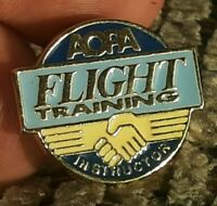 Vintage Collectible Pin: AOPA Flight Training Instructor Aircraft Owners Pilots