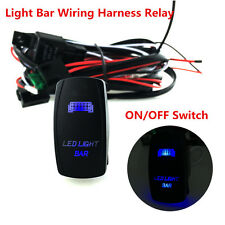 12V 300w OffRoad ATV/Jeep LED Light Bar Wiring Harness Relay&ON/OFF Switch 5-Pin