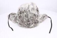 Super Chaud Synthétique Loup Fourrure Ushanka W Cuir Cravate unique et à la mode chapeau (S82)
