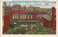 Savannah, GEORGIA - Hotel De Soto Court Garden & Swimming Pool - 1940
