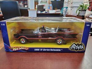 1966 TV Series Batmobile 1:18 Batman Hot Wheels DieCast NOS Unopened