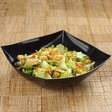 4 /pk Black Square 4qt Plastic Disposable Serving Bowl Catering