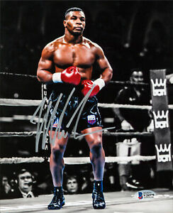 Mike Tyson Authentic Signed 8x10 Vertical Spotlight Photo Autographed BAS