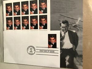 Cary Grant Legends of Hollywood USPS Stamp Sheet of 20 of 37c + First Day Issue