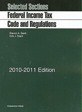 Selected Sections: Federal Income Tax Code and Regulations, 2010-2011-ExLibrary