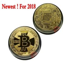 2018 New Year Bitcoin Up Bitcoin Plated Collectible Commercial Wallet Richer
