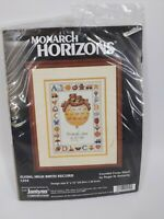Monarch Horizons Counted Cross Stitch Kit Flying High Birth Record CS54 NEW